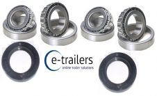 2 drum set Trailer of Bearings 501349 15123 15245 seal 300 187 37 -Bradley 250mm